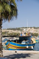 marsaxlokk malta fishing village luzzu classic fishing  boat