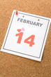 Valentine's Day, calendar date February 14 for background