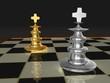 Schachbrett - zwei Könige