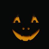 Halloween cutout face poster