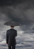 assurance prévoyance mauvais orage climat morose protéger nuageu poster