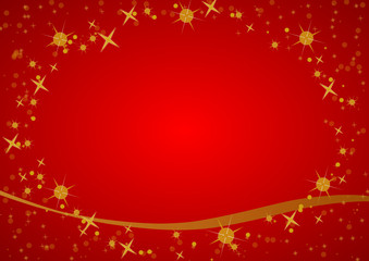gold merry christmas background red