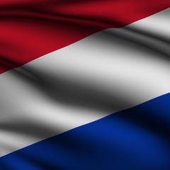 Rendered Dutch Square Flag