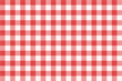 Popular red gingham seamless repeat pattern with fabric texture