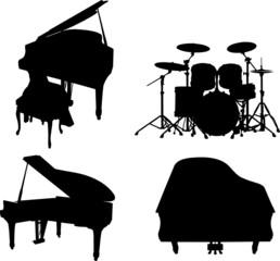 silouhette instrument de musique