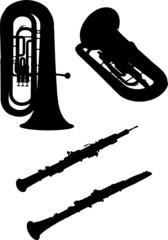 silhouette instrument de musique