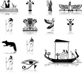 Set icons. Egypt