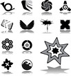 Set icons. Business brands and symbols