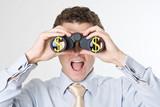dollars monnaie argent jumelle projet affaire business opportuni poster