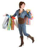 A proud young woman is on a shopping spree. poster