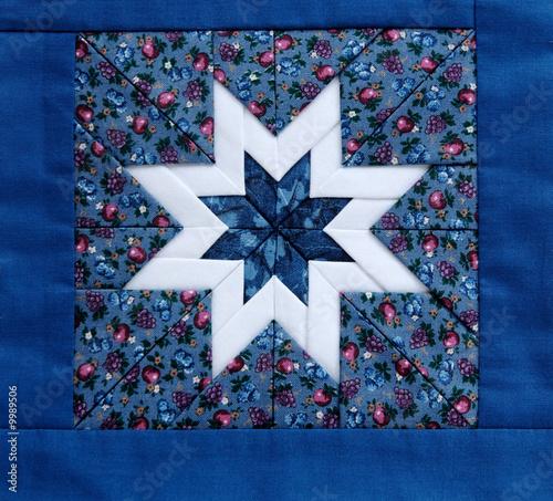 quilt star blue