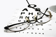 Eye chart with spectacles