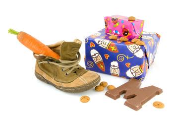 Shoe and presents for Sinterklaas