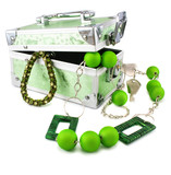 Light green trunk, beeads and armlet isolated