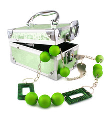 Light green trunk, beads and armlet isolated