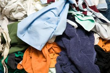 Monton de ropa para planchar