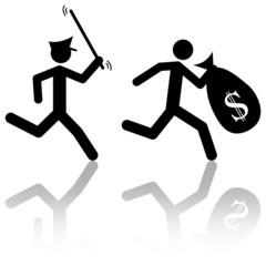 Inseguimento poliziotto-ladro