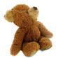 Leinwanddruck Bild - Teddy Bear On White