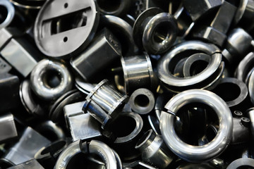 Background of macro of metall spare parts