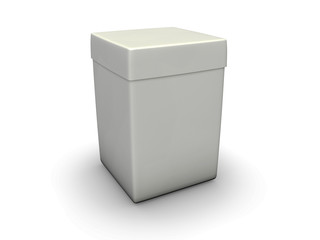 An isolated tall paper crate on white background