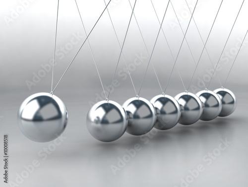 balansowanie piłkami Kołyska Newtona