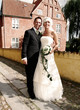Wedding couple manor house