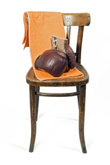 Pair of Boxing Gloves on chair