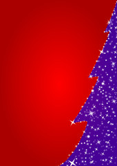 red merry christmas background, tree