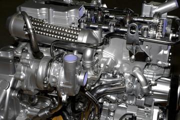 engine of modern car interior view
