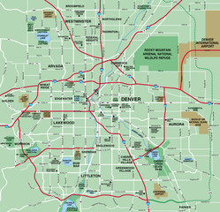 Denver, CO Metropolitan Area Map