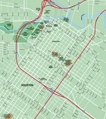 Houston, TX  Downtown Map