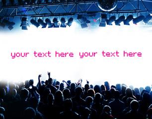 Blaue Party und Fläche für eigenen Text