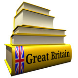 Guidebooks and dictionaries of Great Britain poster