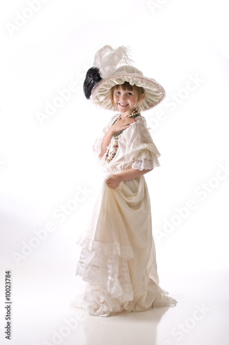 Dressing up in grandma's hat and dress