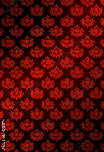 Illustration of red wallpaper