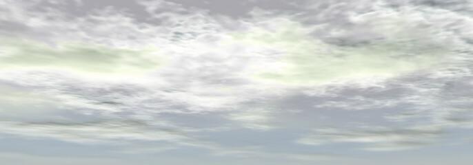 プラチナ色の空