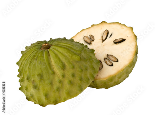 Soursop isolated on white background