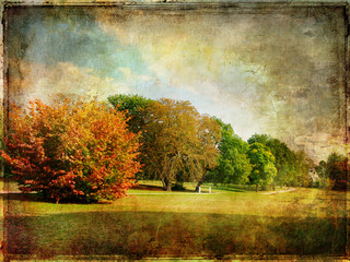 late autumn - vintage picture