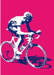 cycliste bleu