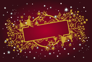 Christmas gold & red