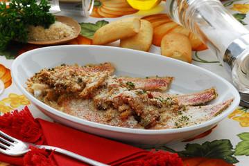 Triglie con le acciughe - Secondo di pesce - Ricette Toscana