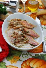Triglie con le acciughe - Secondi di pesce - Ricetta Toscana