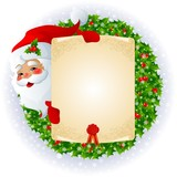 Fototapety Santa Claus with message