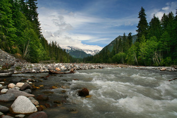 Nisqually River at Mt. Rainier National Park