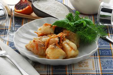 Coda di rospo all arancia - Secondi di pesce - Ricette Veneto