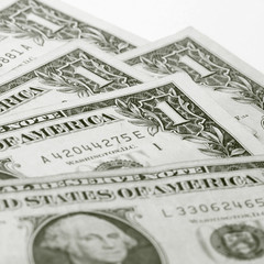 one dollar background macro close up