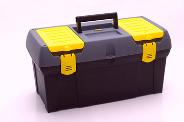 Plastic box of tools