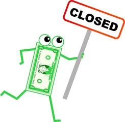 closed dollar