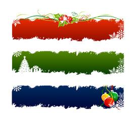 3 set christmas banner