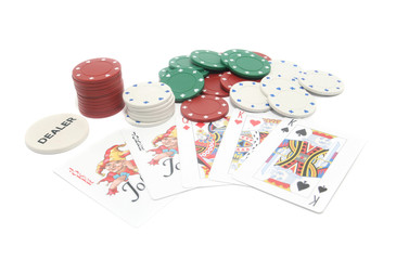 Playing cards and chips